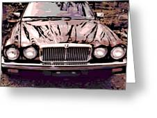Early Jaguar Xj6 Greeting Card