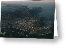 Early Morning Aerial View Of Cape Town Greeting Card