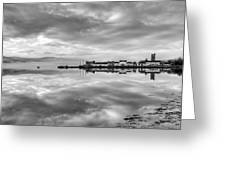 Early Morning At Inverary Black And White Version Greeting Card