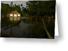 Early Morning Clam Lake Channel Greeting Card