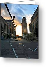 Early Morning Court Street Greeting Card