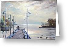 Early Morning In Lake Shore Greeting Card