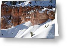 Early Morning Snow In Bryce Canyon Greeting Card