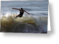 Early Morning Surfing Greeting Card