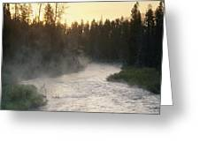 Early Morning View Of Crescent Creek Greeting Card