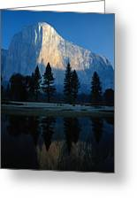 Early Morning View Of El Capitan Greeting Card