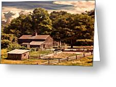 Early Settlers Greeting Card by Lourry Legarde