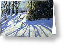 Early Snow Darley Park Greeting Card