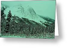 Early Snow In The Mountains  Greeting Card