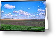 Early Spring Farmland Greeting Card