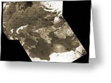 Early Weather Satellite Images Greeting Card