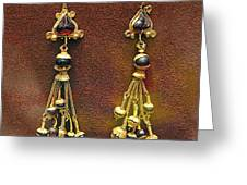 Earrings With Garnets Greeting Card