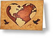 Earth Day Gaia Celebration Digital Art Greeting Card