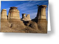 Earth Pillars (hoodoos) In Alberta Badlands Canada Greeting Card