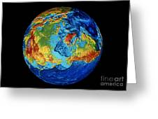Earth: Topography Greeting Card