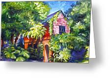 East Bay House In Charleston  Greeting Card