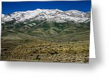 East Humboldt Range Greeting Card