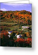 East Orange Village In Fall, Vermont Greeting Card