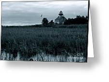 East Point Light Before The Storm  Greeting Card