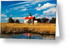 East Point Lighthouse Reflection Greeting Card