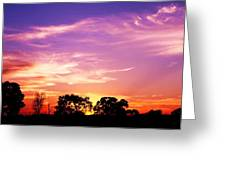 East Texas Sunset Greeting Card