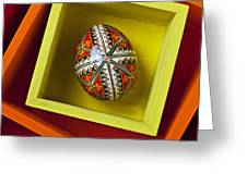 Easter Egg In Box Greeting Card by Garry Gay