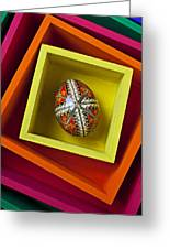 Easter Egg In Box Greeting Card