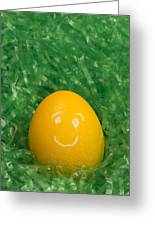 Easter Egg Yellow 3 Smile Greeting Card