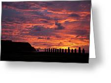 Easter Island Greeting Card