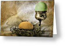 Easter With Patina 2 Greeting Card