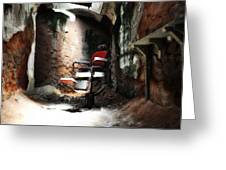 Eastern State Penitentiary - Barber's Chair Greeting Card