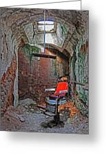 Eastern State Penitentiary Barber Shop Greeting Card