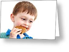 Eating Biscuit Greeting Card