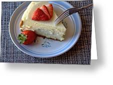 Eating Dessert Greeting Card
