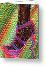 Ebony In High Heels Greeting Card by Kenal Louis