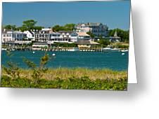 Edgartown Harbor Marthas Vineyard Massachusetts Greeting Card