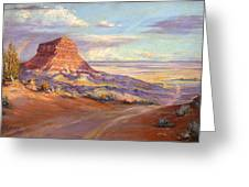 Edge Of The Desert Greeting Card