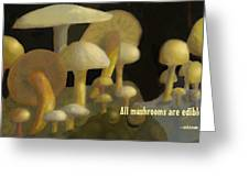Edible Mushrooms Greeting Card