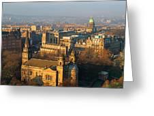 Edinburgh On A Winter's Day Greeting Card