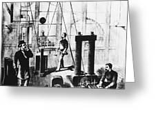 Edisons Electric Generator Greeting Card