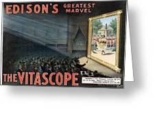 Edisons Vitascope, 1896 Greeting Card