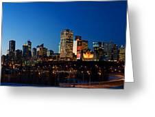 Edmonton Skyline Panorama 2 Greeting Card