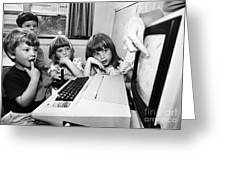 Education: Computers, 1983 Greeting Card