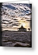 Eerie Lighthouse Greeting Card