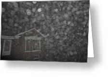 Eerie Spheres In The Night Greeting Card