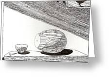 Egg Drawing 019613 Greeting Card