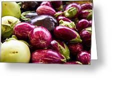 Eggplant Eggplant And Eggplant Greeting Card