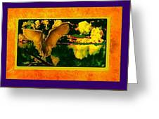 Egret In The Glory Greeting Card