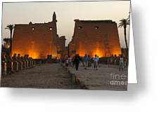 Egypt Luxor Temple Greeting Card