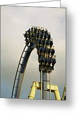 Egypt-montu Rollercoaster At Busch Greeting Card